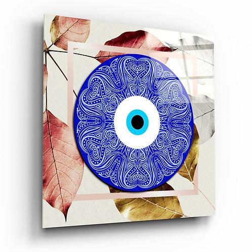 Blue Modern Evil Eye Glass Printing