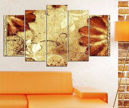 Leaf (2) 5 Pieces MDF Painting
