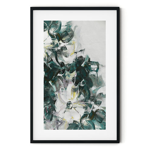 Abstract Flower Framed Wall Art