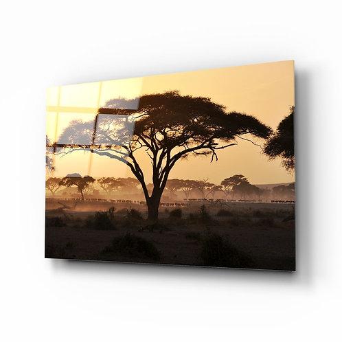 Tree UV Printed Glass Painting