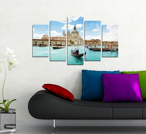 The Chapel of Venice 5 Pieces MDF Painting