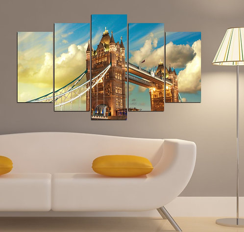 Tower bridge 5 Pieces MDF Painting