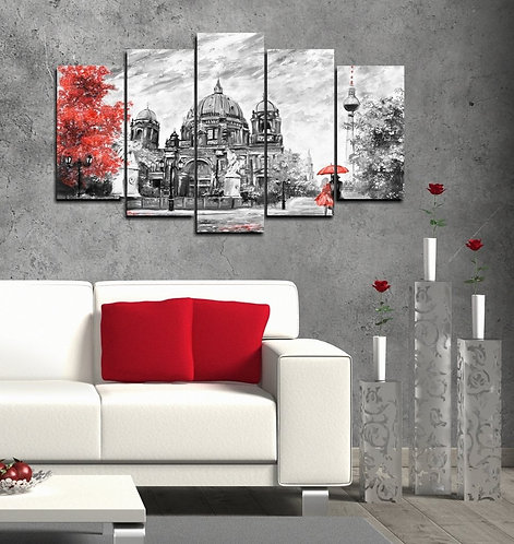 Berlin 5 Pieces MDF Painting