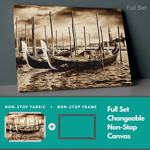 Nostalgic Boats Non-Stop Canvas Printings