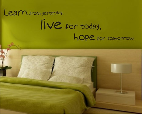 Yesterday Today Tomorrow Wall Sticker