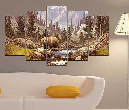 American Forest 5 Pieces MDF Painting