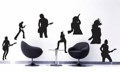 Rock Music Band Wall Sticker