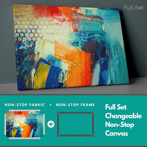 Abstract Colors Non-Stop Canvas Printings