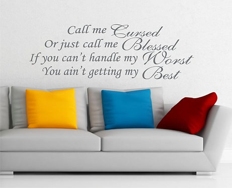 Call Me Wall Sticker