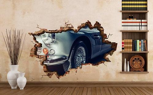 Classic Car 3D Wall Sticker