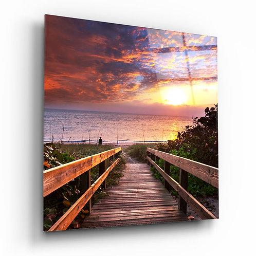 Sea Landscape UV Printed Glass Painting