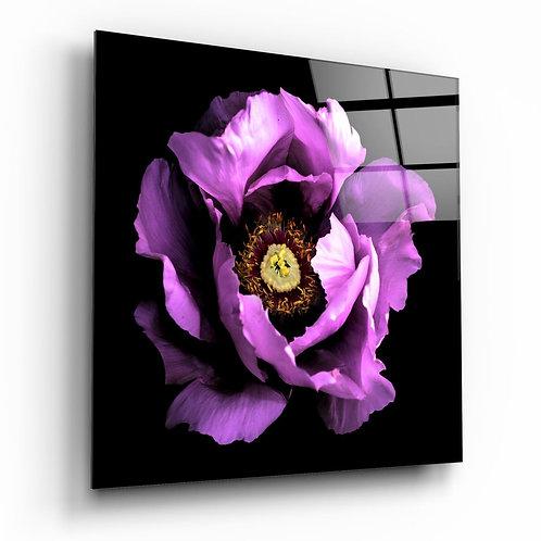 Floral Pink UV Printed Glass Printing