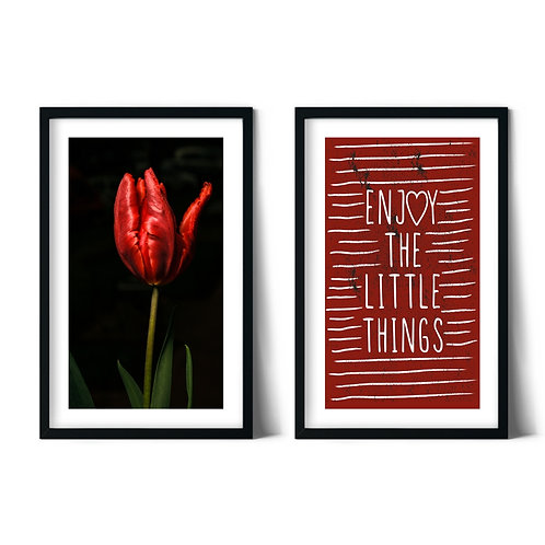 Tulip and Happiness Framed Combined Table