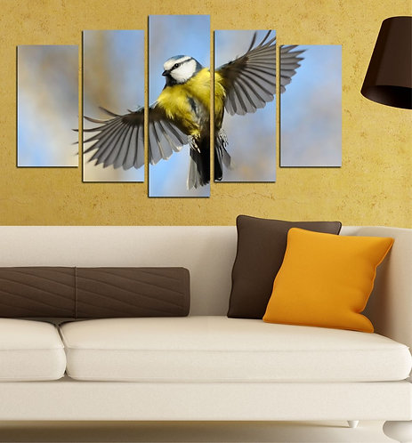 Bird (2) 5 Pieces MDF Painting