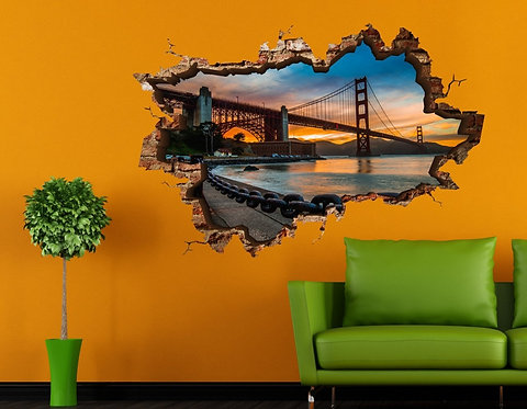 Golden Gate 3D Wall Sticker
