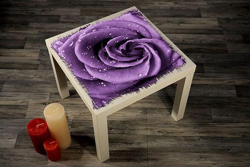 Purple Rose Printed Coffee Tables