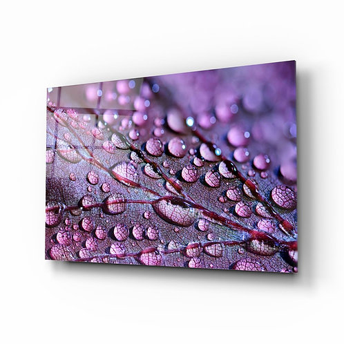 Purple Leaf Glass Printing