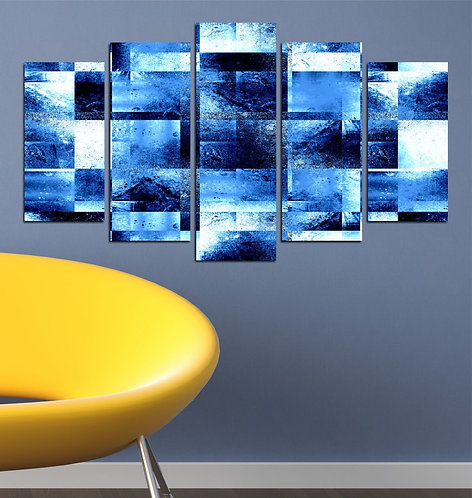 Abstract squares (3) 5 Pieces MDF Painting