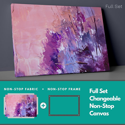 Abstract Purple Non-Stop Canvas Printings