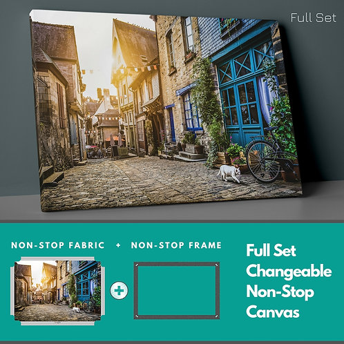 Street And Sunset Non-Stop Canvas Printings