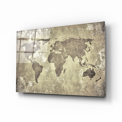 World Map UV Printed Glass Printing
