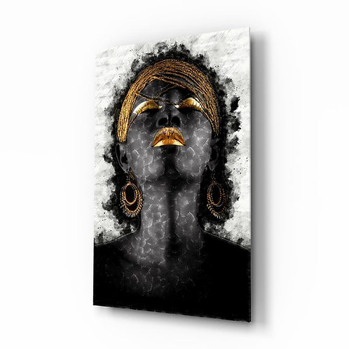 African Woman UV Printed Glass Printing
