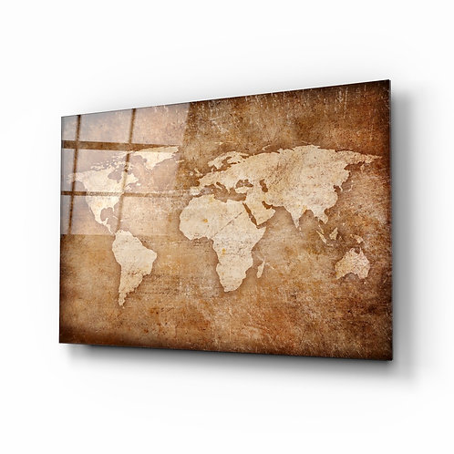 World map Glass Printing
