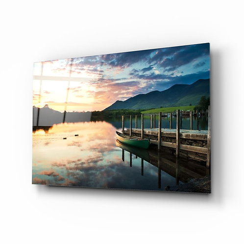 Lake Landscape UV Printed Glass Printing
