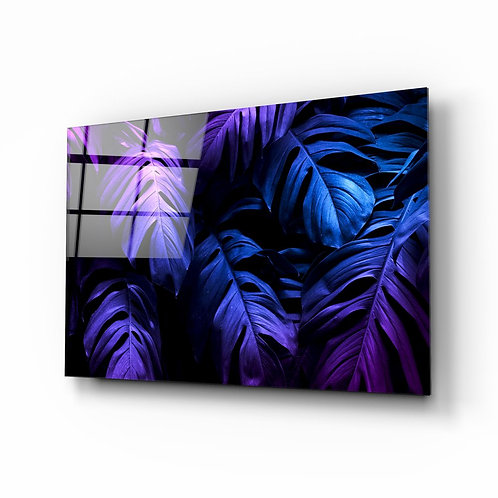 Tropical Leaf Glass Painting