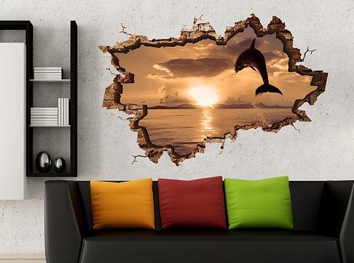 Dolphin 3D Wall Sticker