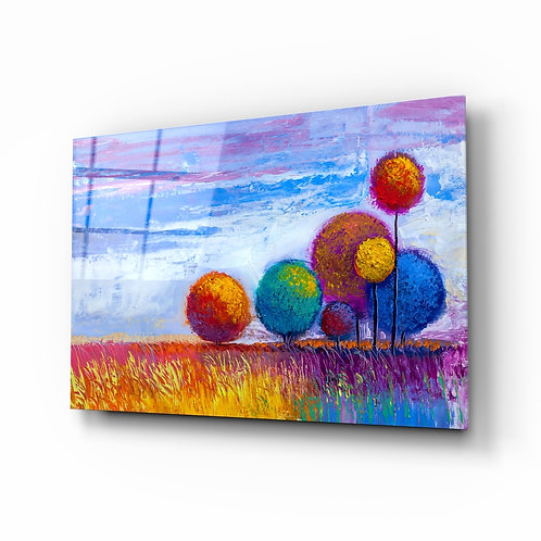 Colorful Trees Glass Printing
