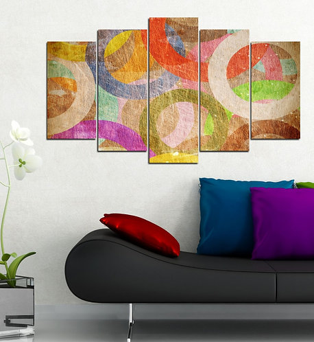 Abstract (5) 5 Pieces MDF Painting