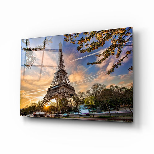 Eiffel Tower UV Printed Glass Printing