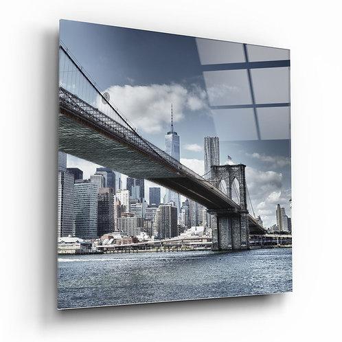 Brooklyn Bridge UV Printed Glass Painting