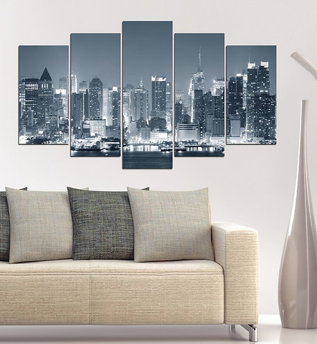 new York 5 Pieces MDF Painting