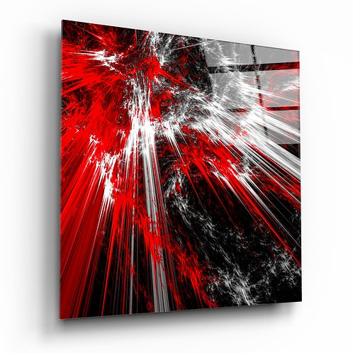 Red Burst Glass Printing