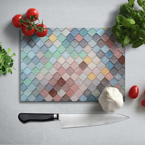 Mosaic  Uv Printed Glass Chopping Board 35x25 cm