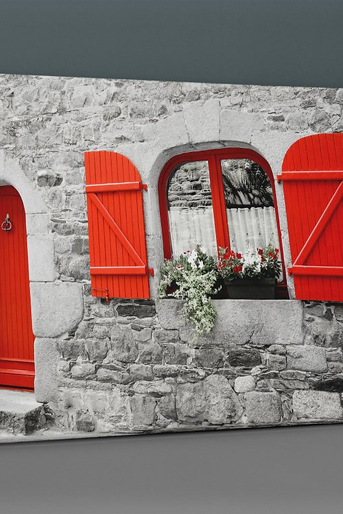 Red Shutter House Canvas Printings
