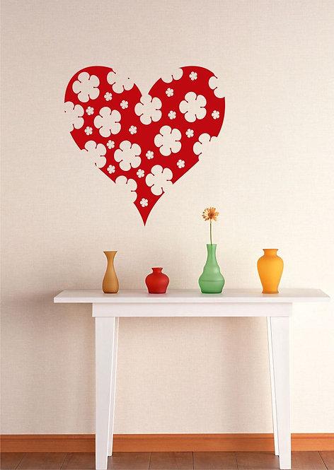 Flower Heart Wall Sticker