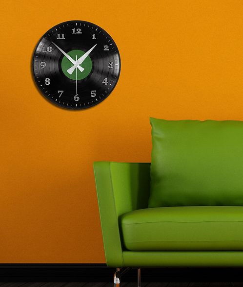 Green Plaque MDF Clock