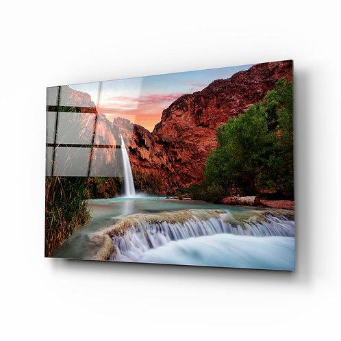 Waterfall UV Printed Glass Printing