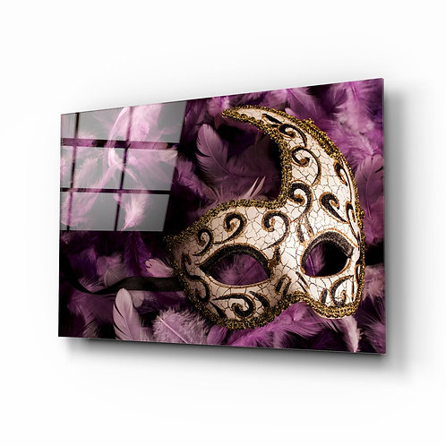 Venice Mask UV Printed Glass Painting