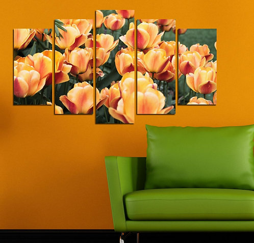 Flowers (9) 5 Pieces MDF Painting