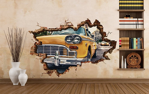 Taxi 3D Wall Sticker