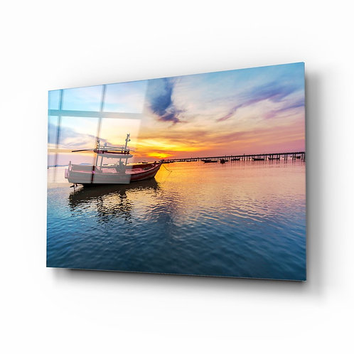 Boat UV Printed Glass Printing
