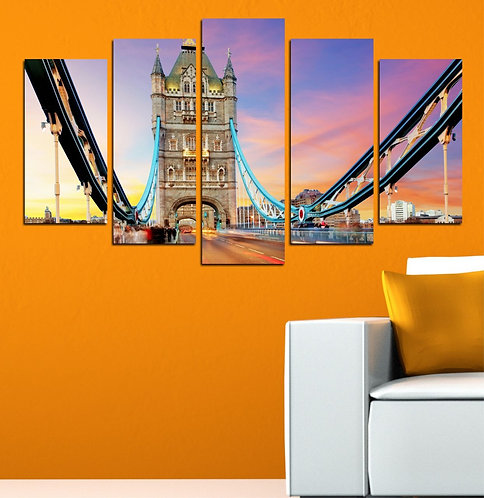 London tower bridge (2) 5 Pieces MDF Painting