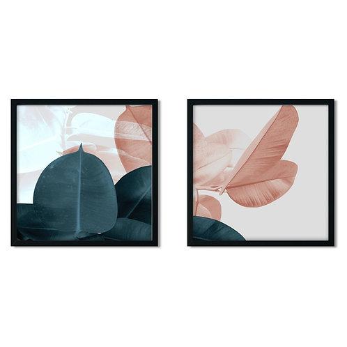 Soft Leaves Framed Painting