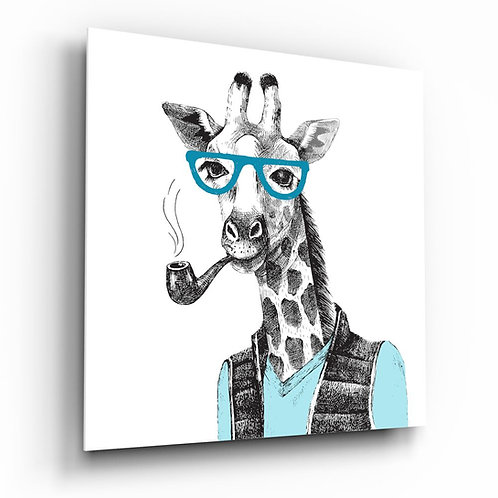 Bay Giraffe UV Printed Glass Painting