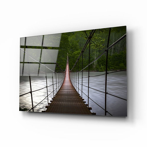 Suspension Bridge UV Printed Glass Printing