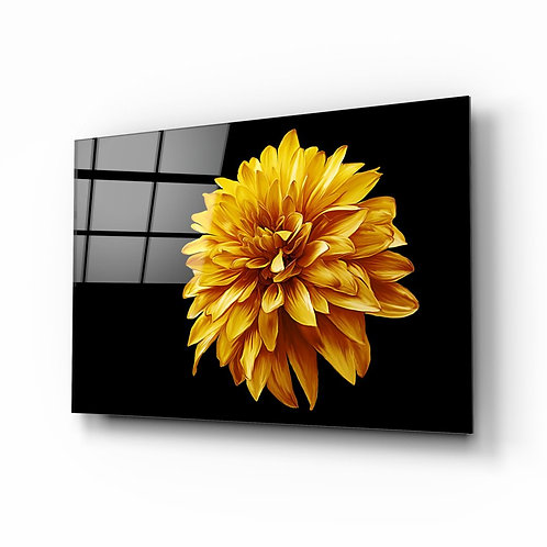 Yellow Flower UV Printed Glass Printing
